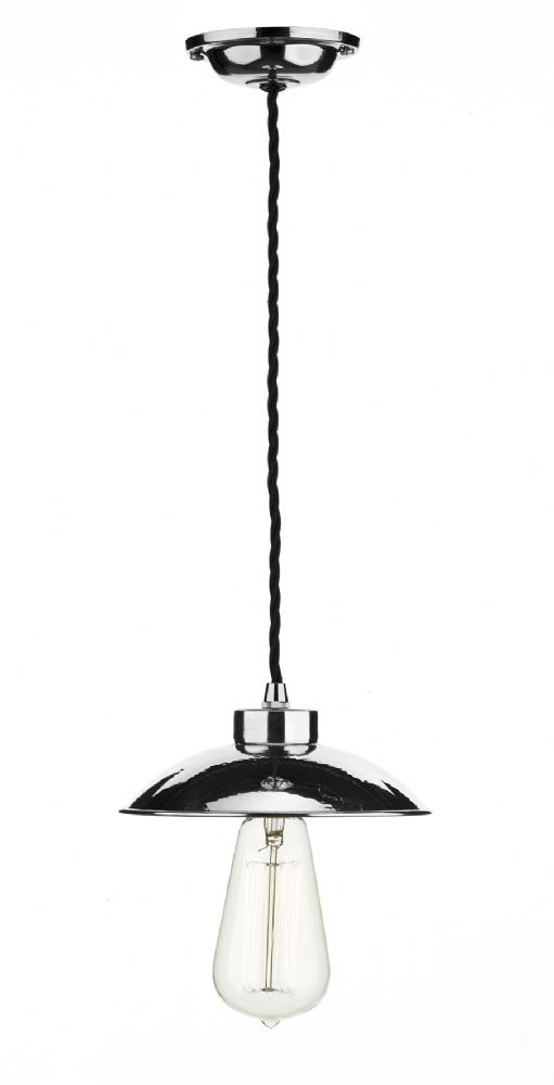 Dar Dallas 1 Light Pendant Polished Chrome DAL0150 (Hand made, 7-10 day Delivery)